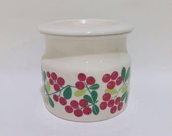 Arabia finland Pomona Lingonberry Jam Jar