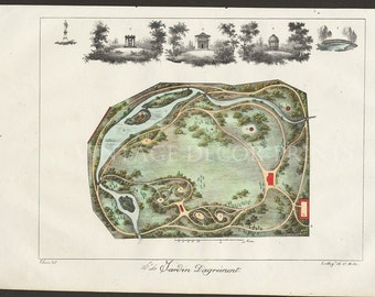Garden Plan 1828 French Garden Design by Gabriel Thouin
