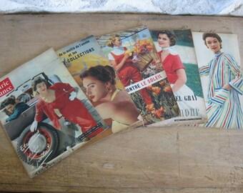 1950s French magazines, 5 Marie France magazines,