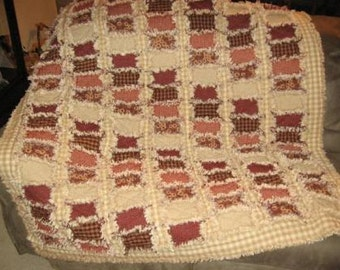 Brick and Mortar Rag Quilt Pattern Digital Download by Sew Practical, Mom and Pop Craft