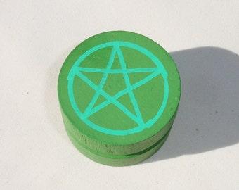 Mini Green Treasure Box - Wiccan Decor