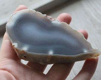 Thick Agate Slab with Polished Front #80719