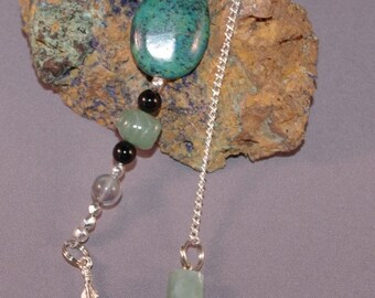 SPRING CLEARANCE Jade and Feather New Age Dowsing Pendulum Magick 124956P