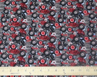 Tractor Tires and Wheels Fabric, IH Farmall, sold by the yard