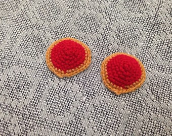 Red and Gold Nipple Pasties