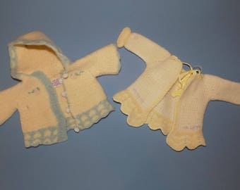 Two Antique Baby/Doll Sweaters