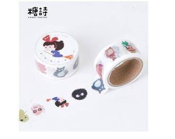 Diary Scrapbook Adhesive Masking Deco Washi Tape - Totoro Spirited Away  (5M x 2 cm)