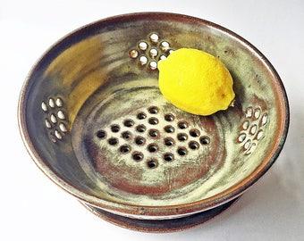 Ceramic Berry Colander - Strainer - Ceramic Berry Basket - Pottery Berry Bowl - Ceramic Colander - Pottery Strainer - Wheel Thrown Pottery