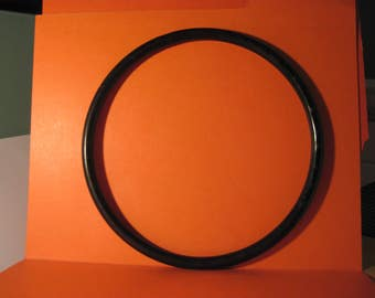 "Round 8"" Black Plastic Hoop / Ring / Craft Project Supply 1 Pair"