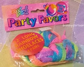 Vintage 1989 LISA FRANK Party Favors neon rainbow shoelace set!