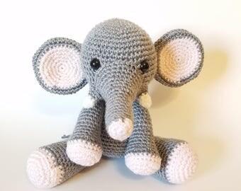 Elephant Stuffed Animal. Plush Stuffed Elephant. Giant Stuffed Elephant. Crochet Elephant Toy. Baby Elephant Stuffed Animal.