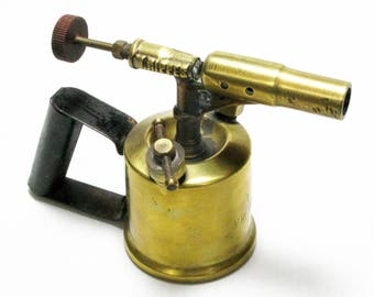 Blow Lamp, French Blow Lamp, Vintage Tools, Brass Blow Torch, French Blow Torch