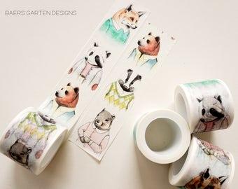 Washi Tape Bear - Watercolor Washi Tape Bear
