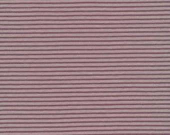 Stripe Brown - Interlock Knits - Organic Cotton - Cloud 9 Fabrics - 1 Yard