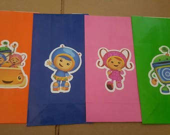 4 Team Umizoomi favor bags, party decorations