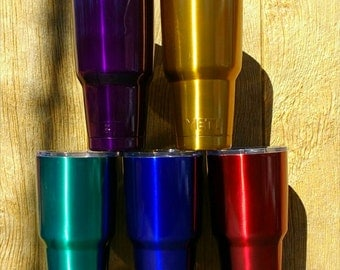 Custom 30oz YETI tumblers in bright candy colors FREE SHIPPING included in low price