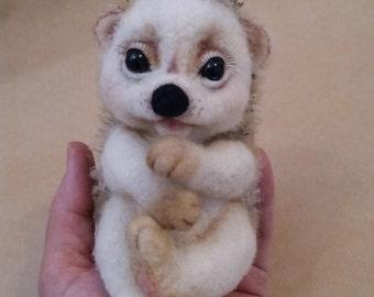Hedgehog, OOAK, needle felted hedgehog, collectible hedgehog, miniature hedgehog, felted animal, woolen hedgehog, art toy
