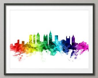 Atlanta Skyline, Atlanta Georgia Cityscape Art Print (2626)