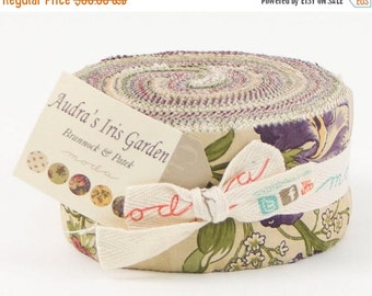SALE Audra's Iris Garden Jelly Roll by Brannock and Patek for Moda - One Jelly Roll - 2100JR