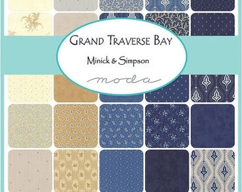 SALE Grand Traverse Bay Layer Cake by Minick and Simpson for Moda - 14820LC