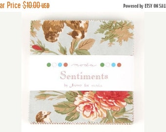 25% Off SALE Sentiments - by 3 Sisters for Moda - One Charm Pack - 4080PP