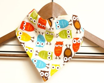 Bandana Bib - Owls