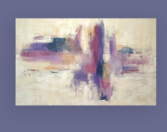 "Original Abstract, OraBirenbaumArt, Art Painting,Original Painting, Acrylic Abstract Canvas Titled: Love Spell 30x48x1.5"" by Ora Birenbaum"