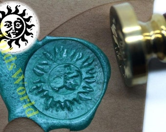 S1023 Sun Wax Seal Stamp , Sealing wax stamp, wax stamp, sealing stamp