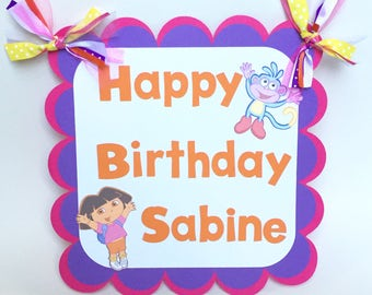Dora Door Sign, Dora the Explorer Door Sign, Dora Birthday Sign, Dora the Explorer, Dora Welcome Sign, Dora and Boots Sign, Dora Birthday