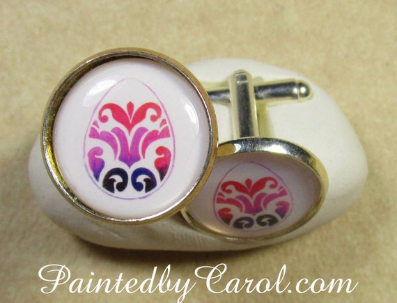 Easter egg cufflinks easter mens gifts flourish egg like this item negle Images