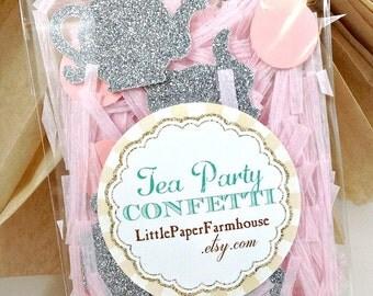 Glitter Tea Party Confetti-Teapot Confetti-Tea Party Baby Shower-Tea Party Table Decoration-Tea Party Birthday-Table Confetti-Pink Confetti