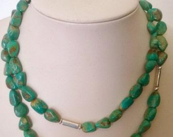Fox Turquoise Single Strand Necklace