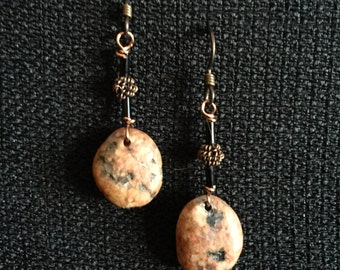 Lake Superior Red Granite Earrings