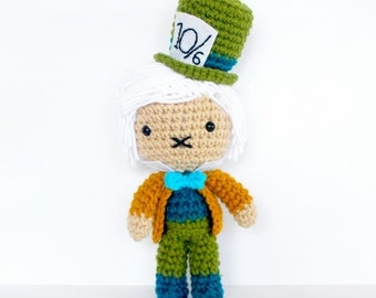 Mad Hatter - from Alice in Wonderland - Roseberry Town Collection - Inspired Amigurumi Plush Doll by Roseberry Arts