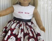 Handmade Doggie Doll Dress for all 18 inch dolls, like the American Girl, Our Generation and other dolls