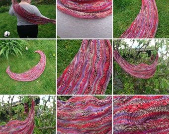 Unique OOAK Luxury Lady of Shalott Shawl - Made To Order