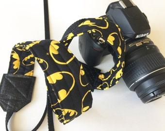 Camera Strap - dslr camera strap - batman camera strap - camera neck strap - mens camera strap - super hero camera strap