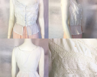 Edwardian cotton and lace camisole
