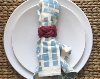 Rope Napkin Rings / cranberry