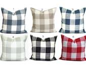 Buffalo Check Pillow Covers, Plaid Pillows. Check Pillow, Couch Pillow, Throw Pillow, Grey Throw Pillow, Pillow Sham.Euro Sham.cm. All Sizes