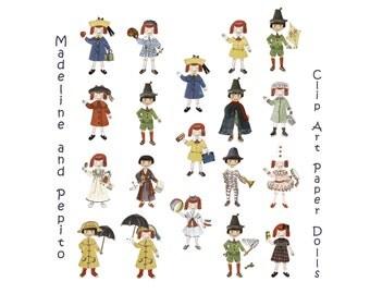 Madeline Clip Art - Printable Paper Dolls - Clip Art - Madeline Dolls