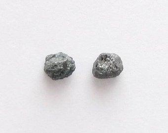 Natural Rough Blue Diamond, Unheated, Uncut, lot (2) of 1.36 carat