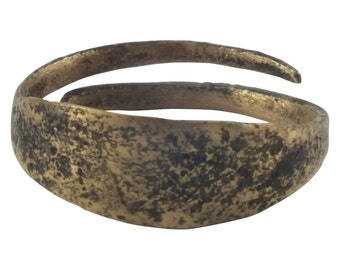 Authentic Ancient Viking Mans Ring, 850-1050 A.D. Size 11 (21.4mm) (pwr1208)