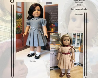 "PDF Pattern KDD14 ""Bodice Details"" -An Original KeepersDollyDuds Design, makes 18"" doll Clothes"
