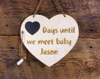 Personalized Engagement Gifts Wedding Countdown Chalkboard Sign Countdown Calendar Days Until We Become Mr and Mrs (YOUR NAME)
