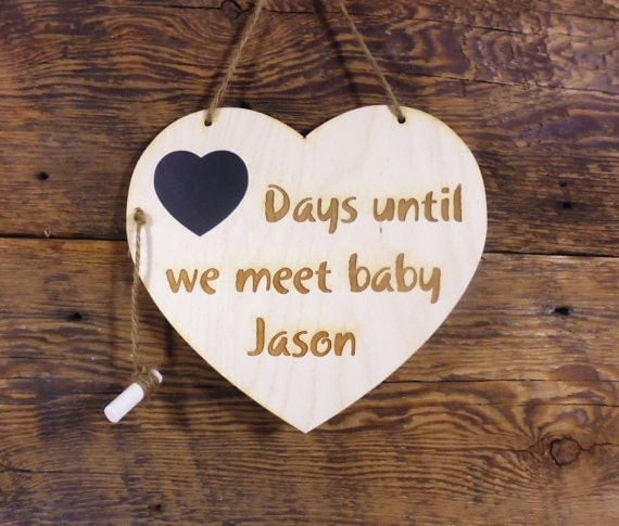 Personalized Engagement Gifts Wedding Countdown Chalkboard