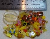 BEAD SOUP - Destash - Glass & Crystal - yellows, oranges - variety - beads PG872