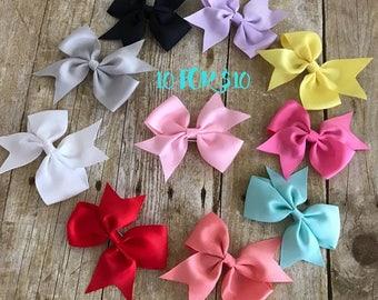 Hair Bows, Baby Girl hair bow, Little Girl Hair Bows, Little Girl Bows, 3.5 Inch Hair Bow, Barrettes, Hair Clips, Pink hair bow, Aqua Bow