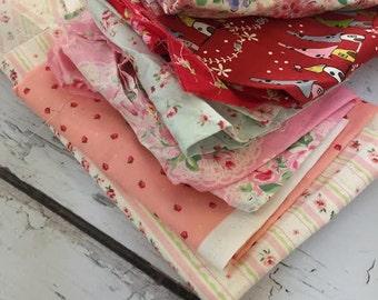 Destash, Lecien fabric scraps, destash, scrap bag
