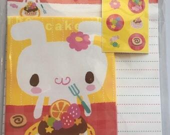 Kawaii Letterset Bunny Cake & candy